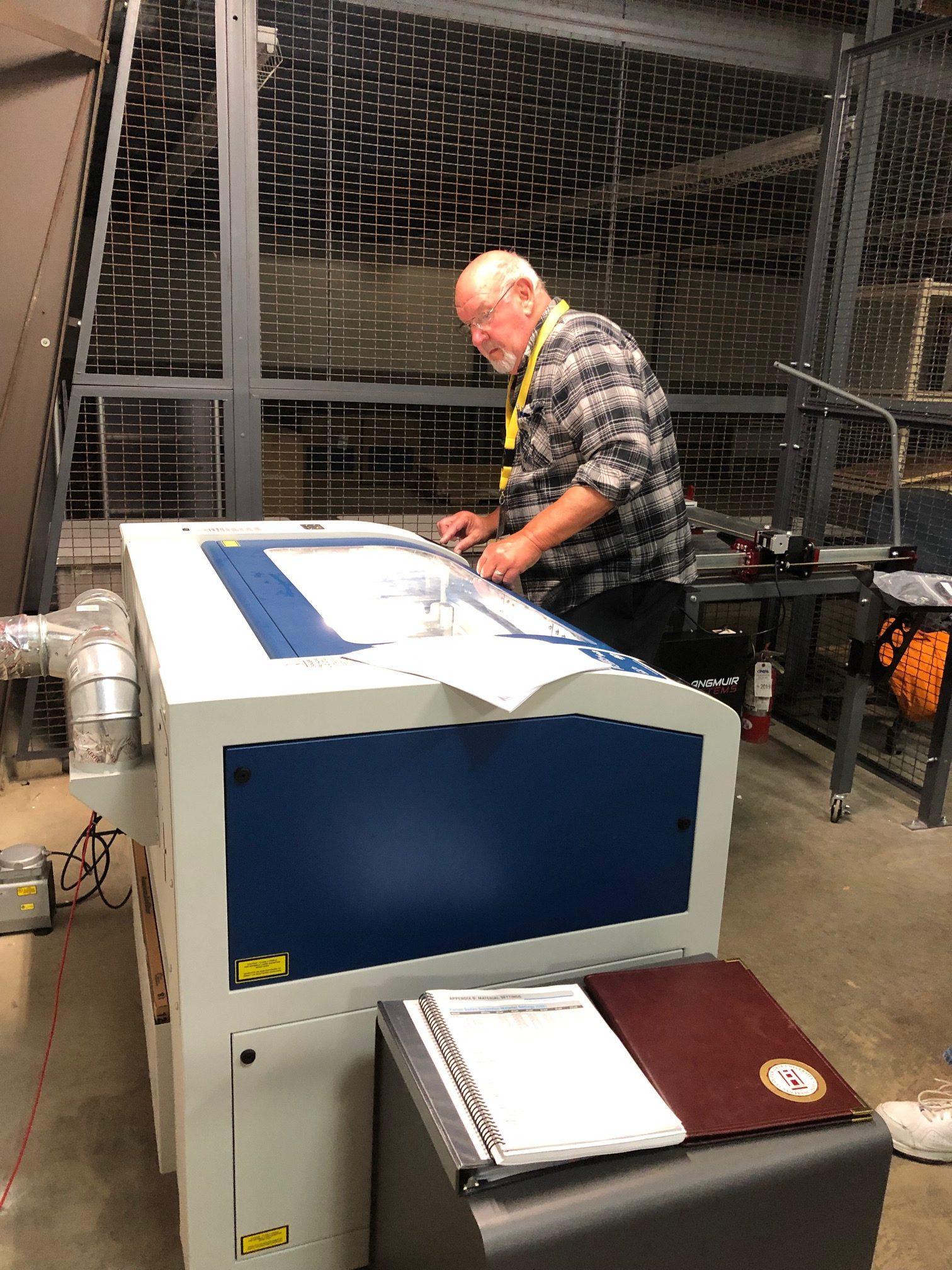 Scott Kleine laser cutter 04 2019
